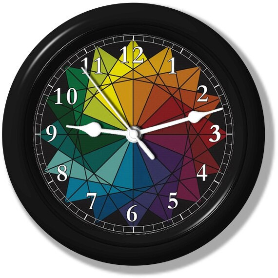 how to make a color wheel clock