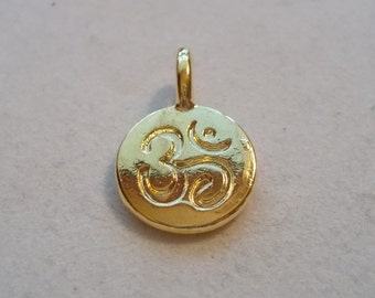 Gold or Silver  OM Pendant