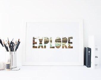 8x10 Print: Explore