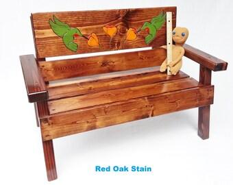 Childrens Wood Outdoor Bench Kids Furniture Toddler