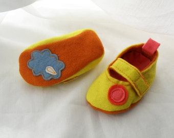 Baby Shoes Sample sale/ Felt  Mary Janes/9-12 months