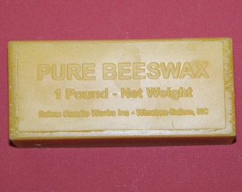 1 pound pure beeswax - settled and filtered