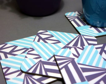 Aztec Stripe Pattern Coasters SALE WAS 13.00