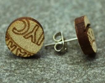 Wooden Circle Earrings - Varied