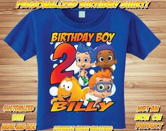 Personalized Bubble Guppies Birthday Shirt - tshirt custom