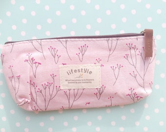 Floral shabby chic pencil pouch Flower Lace Pencil Pen Case Cosmetic Makeup Bag Zipper Pouch