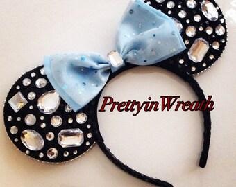 Diamond inspired Mickey Mouse ears headband