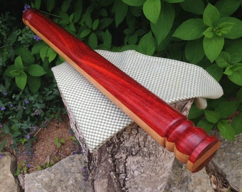 Hand Turned Exotic Wood Rolling Pin, European Style Baking Utensil ***FREE SHIPPING***