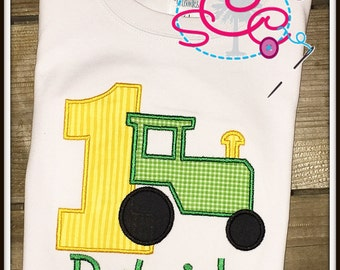 Personalized Tractor Birthday Shirt