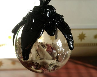 Authentic Witch's Ball - PROTECTION and BANISHING NEGATIVITY- Essential Oils and Quality Herbs!