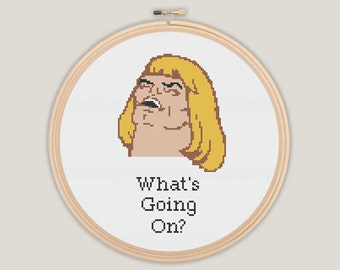 He-Man What's Going On Cross Stitch - PATTERN