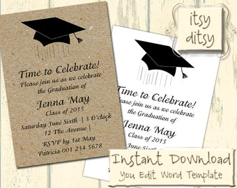 Graduation invitations – Etsy