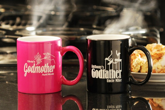 Custom Color Godparents Coffee Mug Set By GodparentBaptismGift