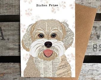 Bichon Frise dog greetings card