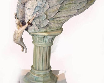 Sculpture,Porcelain,Handmade-The Ambition-19,7 x 18,9 x 9,5 in, Ceramics,Flying,Wings,Present