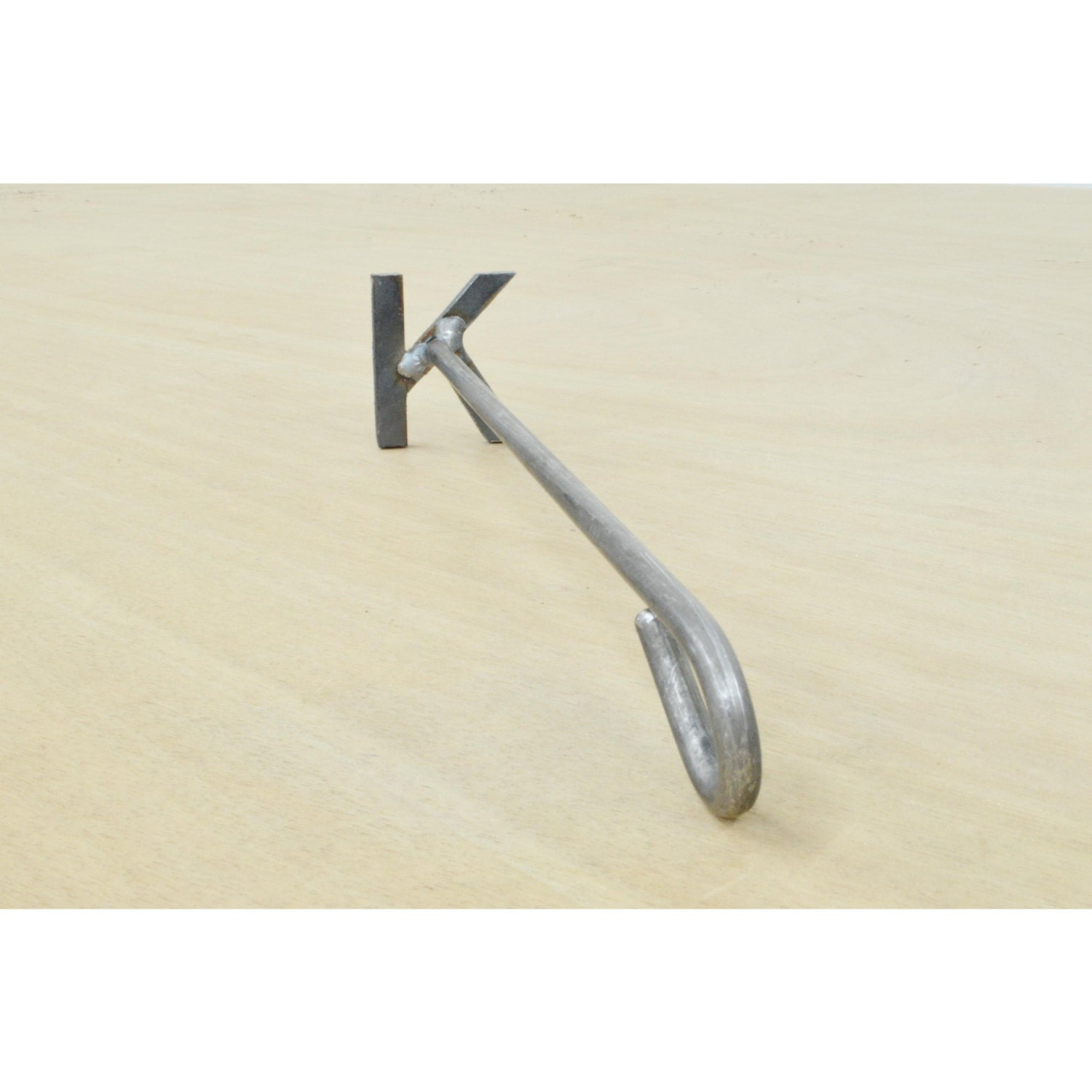 letter k branding iron steak brand wood burning by theleatherguymn