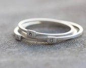Initial ring - Sterling silver stackable ring - lowcase letter