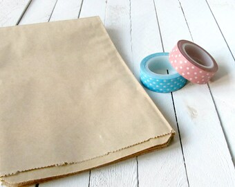 25 - 7.5 x 10.5 Kraft Merchandise Bags, Brown Paper Bags, Favor Bags