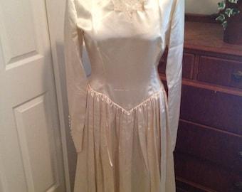 Vintage Handsewn Wedding Dress Gown