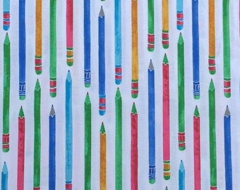 Study Hall Fabric | cotton fabric by the yard | quilting fabric | school fabric | fun fabric | novelty fabric | boy fabric