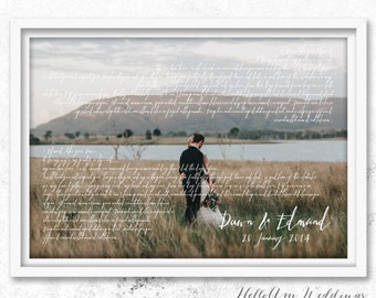 wedding vows framed, 1st anniversary gift, Mr and mrs wedding gift, first wedding anniversary gift for him, wedding gift idea, vow renewal