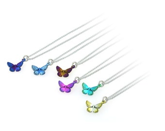 Butterfly Pendant and Chain - Medium
