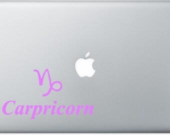 Capricorn Zodiac Sign Laptop Decal