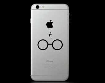 Glasses with Lightning Bolt (Harry Potter) Phone Decal