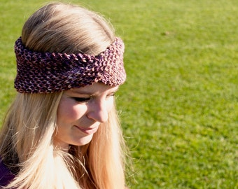 Busy Bee Earwarmer Knit Headband Knitting Pattern for children and adults