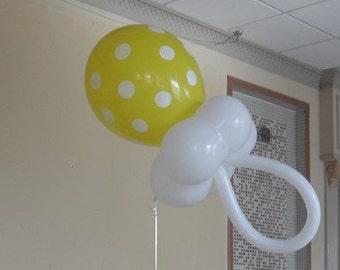 Balloon Baby Shower Centerpiece / Decoration Pacifier Kit - DIY