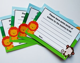 Jungle Advice Cards for Baby Shower (12ct)