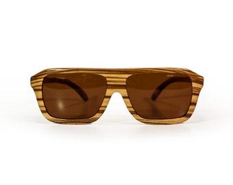 Wooden sunglasses - Las Salinas, Hoentjen Creatie