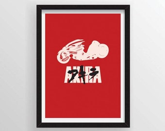 Akira Movie Poster Minimal Anime Poster - A3 and 13 x 19 Available