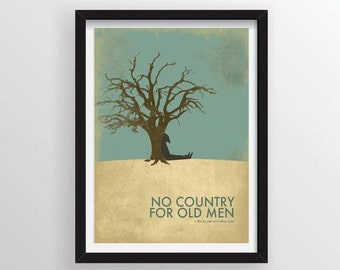 8.5 x 11 No Country For Old Men by the Coen Brothers Movie Poster - Based on the Novel by Cormac McCarthy