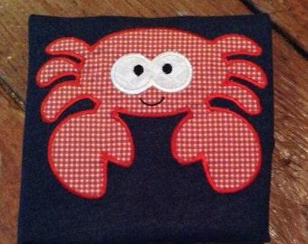 Crab Appliqued T-shirt