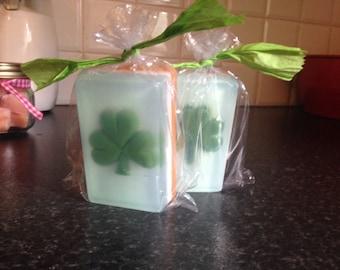 Handcrafted Shamrock Soap