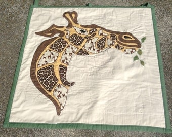Giraffe Wall Hanging Quilted