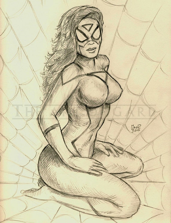 Original Spider Woman Sketch
