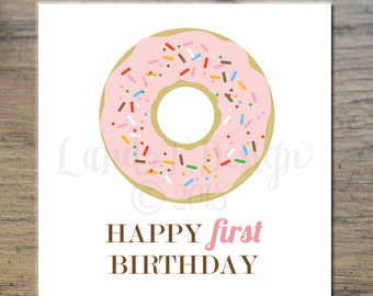 First Birthday Card {Donut}