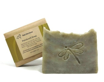 Patchouli Soap with Dead Sea Clay, All Natural Soap, Handmade Vegan Soap, Gift under 10