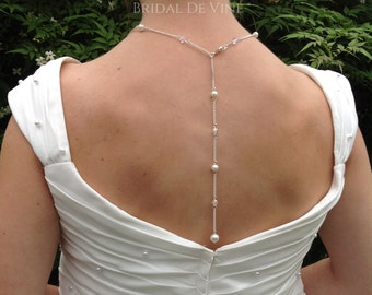 Bridal Wedding Prom Backdrop Choker Style Necklace Made with CRYSTALLIZED™ - Swarovski Elements