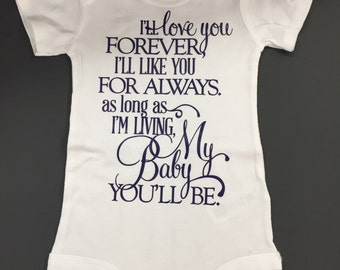 Onesies, onesie, baby girl onesie, I'll love you forever..., baby shower gift, gift,