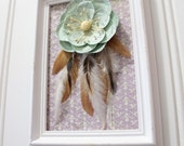 Aqua flower dreamcatcher