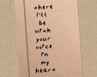 Bill Ryder-Jones Lyric Card