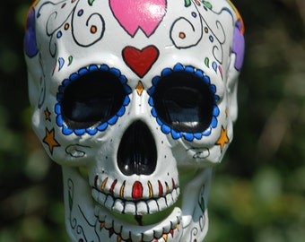 Hand painted suger skull wind chimes