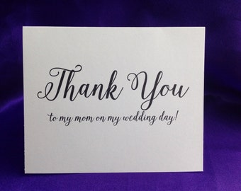 Mom Wedding Thank You Cards