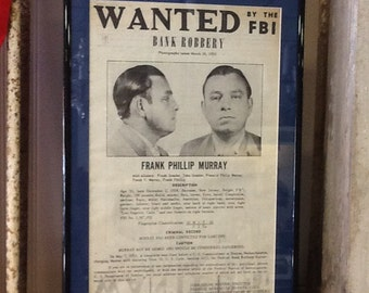 FBI Wanted Poster from 1950s
