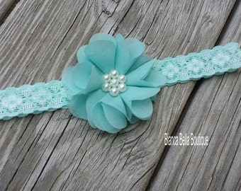 Baby Headband Infant Headband Toddler Headband Newborn Headband Aqua Headband