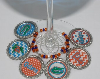 University of Florida Wine Glass Charms- Set of 6