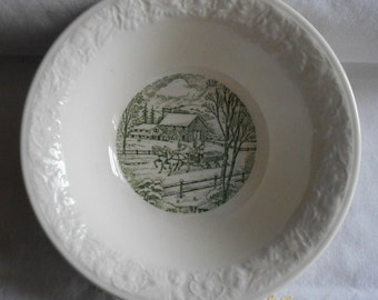 Vintage 1950s Homer Laughlin Pastoral Pattern Small bowl